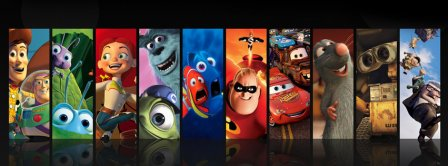Pixar Cartons Facebook Covers