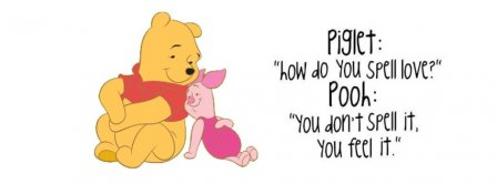 Pooh Bear Love Quote  Facebook Covers