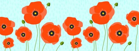 Poppies Facebook Covers
