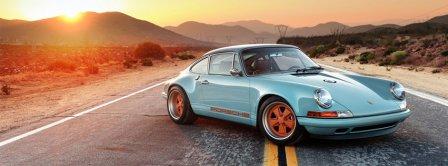 Porsche Singer 911 Racing Blue  Facebook Covers