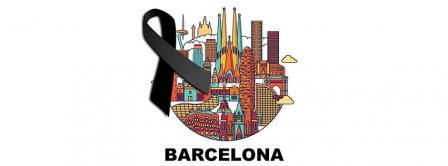 Pray For Barcelona Black Ribbon Facebook Covers