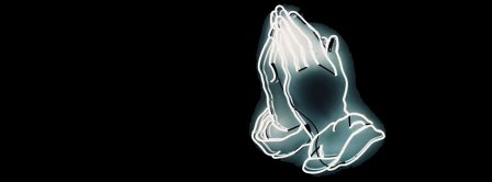 Pray Neon Sign Facebook Covers