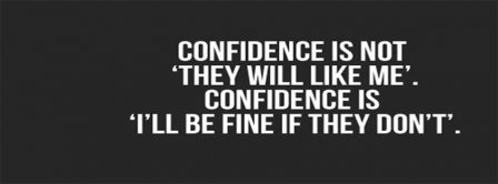 The Definition Of Confidence Facebook Profile Timeline Cover Facebook Covers