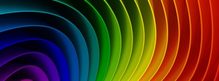 Rainbow Colorful Illusion  Facebook Covers