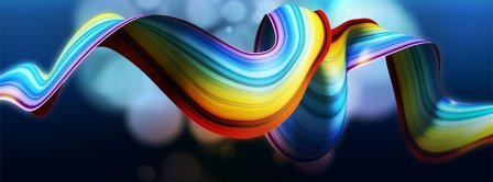 Abstract Rainbow Facebook Covers