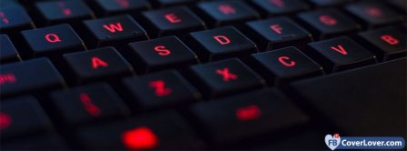 Red Light Keyboard Facebook Covers