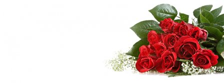 Red Roses Bouquet Facebook Covers