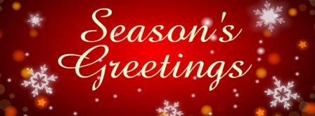 Red Seasons Greetings Facebook Covers
