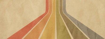 Retro Striped Texture Pattern Facebook Covers