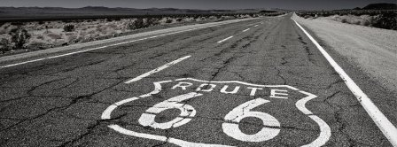 Route 66 Black And White  Facebook Covers