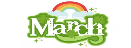 Saint Patricks March Rainbow Facebook Covers