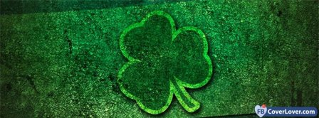 Saint Patrick Four Leaf Clover 1 Facebook Covers