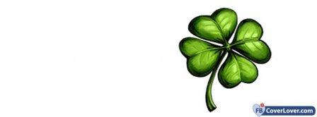 Saint Patrick Four Leaf Clover 2 Facebook Covers