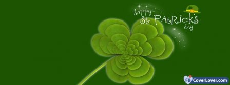 Saint Patrick Four Leaf Clover 3 Facebook Covers