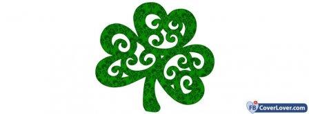 Saint Patrick Four Leaf Clover 4 Facebook Covers