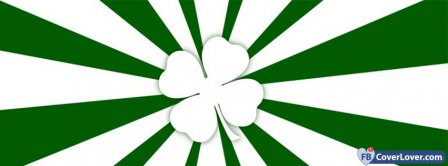 Saint Patrick Four Leaf Clover 5 Facebook Covers