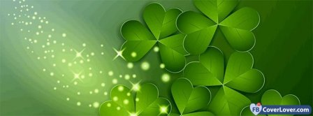 Saint Patrick Four Leaf Clovers 1 Facebook Covers