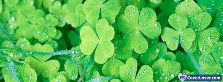 Saint Patrick Four Leaf Clovers 2 Facebook Covers
