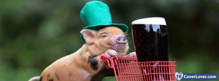 Saint Patrick Guinness Pig 1 Facebook Covers