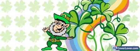 Saint Patrick Leprechaun 1 Facebook Covers
