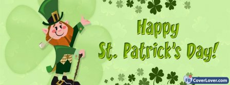 Saint Patrick Leprechaun 2 Facebook Covers