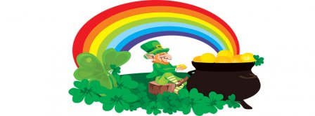 Saint Patricks Day Rainbow Facebook Covers