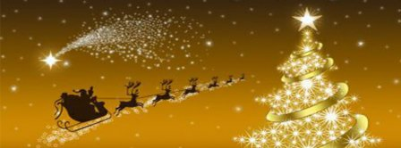 Santa Claus Is Flying Facebook Covers
