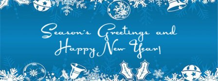 Seasons Greetings And Happy New Year  Facebook Covers