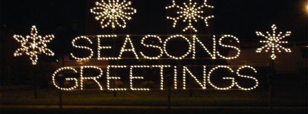 Seasons Greetings Lights Facebook Covers
