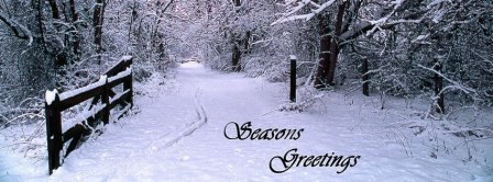 Seasons Greetings Snow Facebook Covers