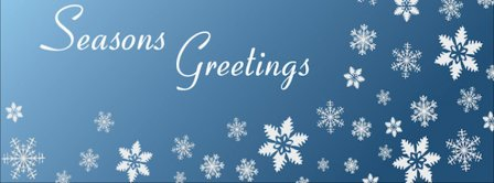 Seasons Greetings Snowflakes Facebook Covers