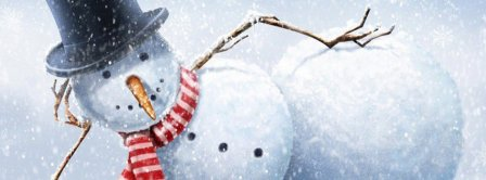Sexy Snowman Facebook Covers