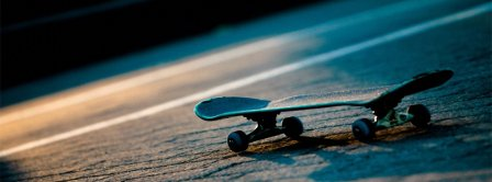 Skateboard Under Blue Light Facebook Covers