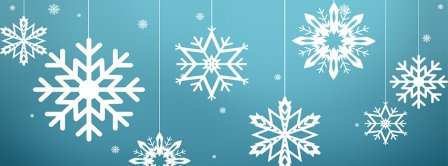 Snowflakes Christmas Ornaments Facebook Covers