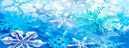 Snowflakes Facebook Covers