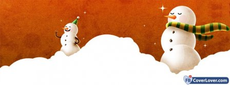 Snow Snowman Winter Seasonal Facebook Covers