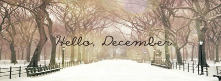 Hello December Snow And Light Facebook Covers