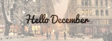 Snowy Hello December Facebook Covers