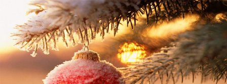 Snowy Christmas Ornaments Facebook Covers