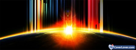 Space Earth Glare Facebook Covers