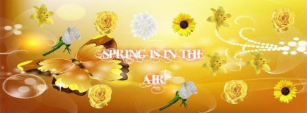 Spring Is In The Air Facebook Covers