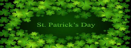 St Patricks Day Clovers Background Facebook Covers