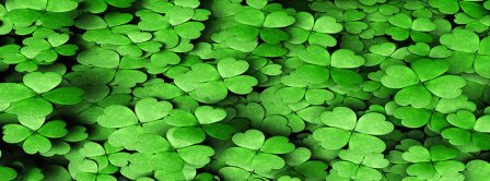St Patricks Day Clovers Facebook Covers