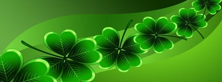 St Patricks Day Clovers String Facebook Covers