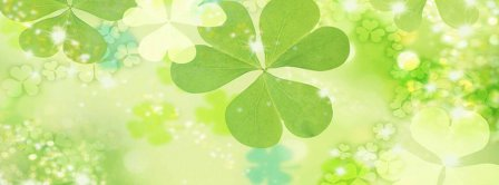 St Patricks Day Green Clovers Background  Facebook Covers