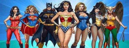 Super Women Heroes Facebook Covers