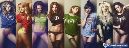 Superheros Comics Tshirts  Facebook Covers