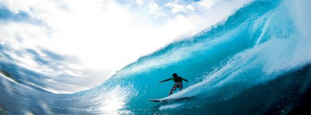 Surfer Riding Big Wave Facebook Covers