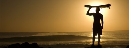 Surfer Sunset Facebook Covers