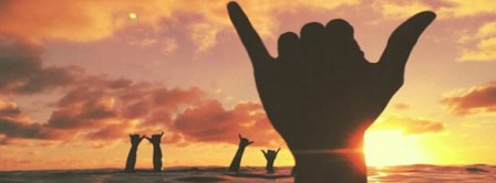 Surfing Shaka Facebook Covers